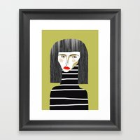 Fashion Illustration. Framed Art Print