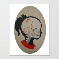 Girl Next Door = Silhouette and Anatomy Love Painting Canvas Print