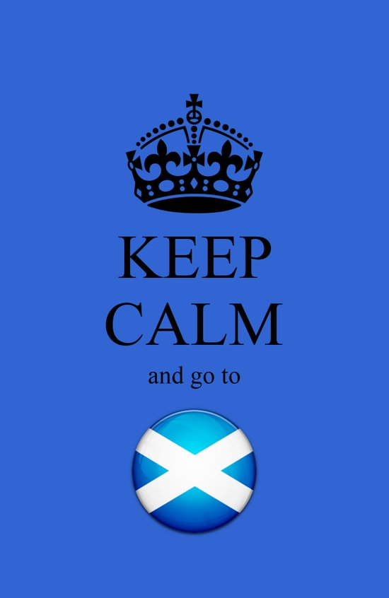 KEEP CALM Scotland Art Print
