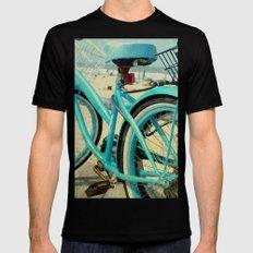 Beach Bike SMALL Mens Fitted Tee Black