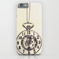 iPhone & iPod Case featuring Ballpoint Pen, Half Hunter Pocket Watch by One Curious Chip