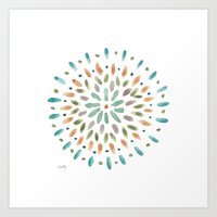 Watercolor Abstract Circles Art Print