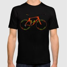 Time Trial Bike SMALL Mens Fitted Tee Black