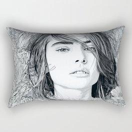 Rectangular Pillow - White Moon Garden - PedroTapa