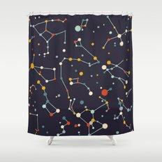 Starry Sky (purple Mid C… Shower Curtain