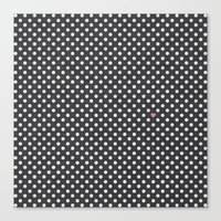 Polka Dots Walls Canvas Print