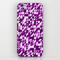 Purple Patchwork iPhone & iPod Skin