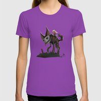 El Roquito. Womens Fitted Tee Ultraviolet SMALL