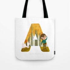 A is for Adventure Tote Bag