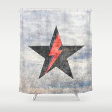 BlackStarMan (waiting in the sky) Shower Curtain