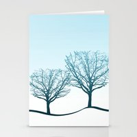Twin Trees Stationery Cards