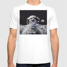 Spaceman (blue) Mens Fitted Tee White SMALL