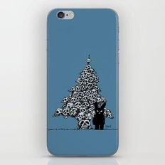 The Black Bunny of Doom and his Skull Christmas tree iPhone & iPod Skin
