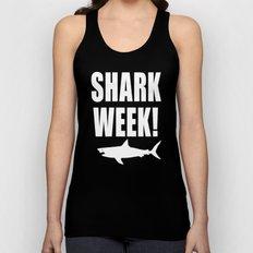 Shark week (on black) Unisex Tank Top