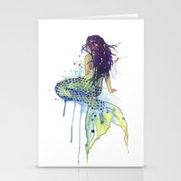mermaid Stationery Cards featuring Mermaid by Sam Nagel