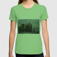 Sea Castle Womens Fitted Tee Grass SMALL