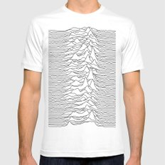Unknown Pleasures - White Mens Fitted Tee White SMALL