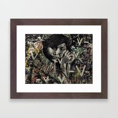 the messing piece Framed Art Print