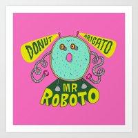 Donut Arigato Art Print