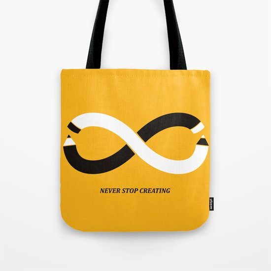 Never stop creating (the infinity pencil) Tote Bag