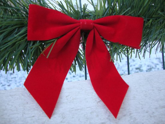 Red Bow for Christmas Art Print