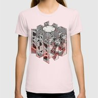 Hellraiser Puzzlebox D Womens Fitted Tee Light Pink SMALL