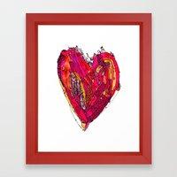 Funky Heart Framed Art Print