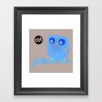 Oh-Owl~ Framed Art Print