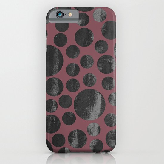 gray polka dots iPhone & iPod Case