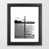 Scenic solitude Framed Art Print