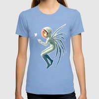 Contact Womens Fitted Tee Tri-Blue SMALL