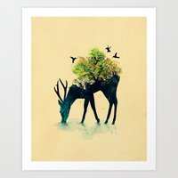 cute Art Prints featuring Watering (A Life Into Itself) by Picomodi
