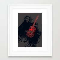 Playing With My Heart Framed Art Print