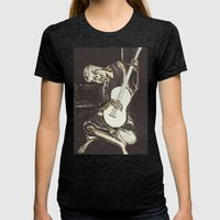 The New Old Guitarist (part 2) Womens Fitted Tee Tri-Black SMALL