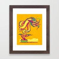 Bonsai Dragon Framed Art Print