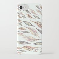 feathers iPhone & iPod Cases featuring Feathers by Vasare Nar