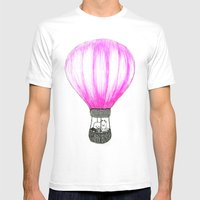 Balloon Mens Fitted Tee White SMALL