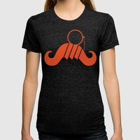 The Guide To Gentlemanly… Womens Fitted Tee Tri-Black SMALL