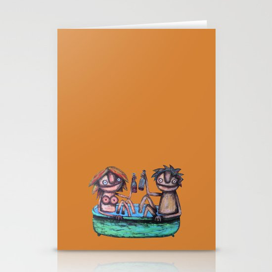 In the bath Stationery Card