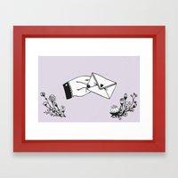 Snail Mail Love Framed Art Print