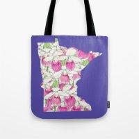 Minnesota in Flowers Tote Bag
