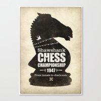 Shawshank Chess Champion… Canvas Print