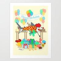 The Birthday Party Clown… Art Print