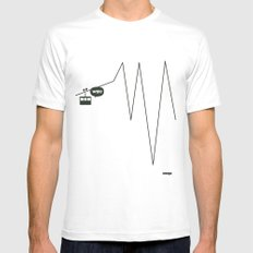 WTF? Riel! White SMALL Mens Fitted Tee