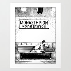 asc 436 - L'escale à Monastirion (Stopover in Monastirion) Art Print