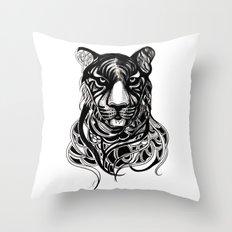 Tiger - Original Drawing  Throw Pillow