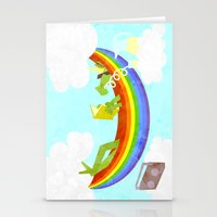 Rainbow Hammock Unicorn Stationery Cards