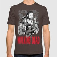 Walking Dead Mens Fitted Tee Brown SMALL