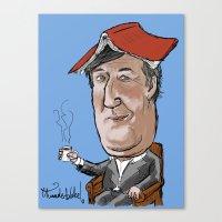 Stephen Fry Not Reading … Canvas Print
