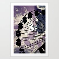 On Lavender Clouds Art Print